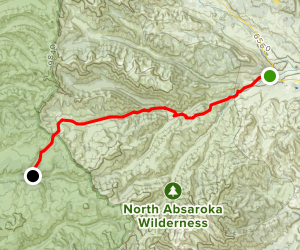Crandall Trail to Miller Creek Campground Map