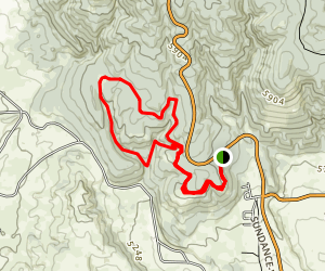 Carson Draw Trails Map