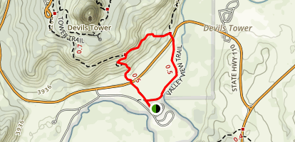 South Side Trail and Valley View Trail Loop Map