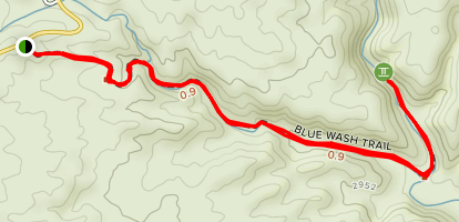 Blue Wash Trail Map