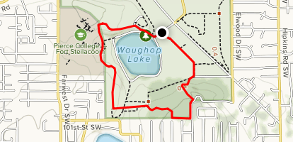 Waughop Lake Trail Map