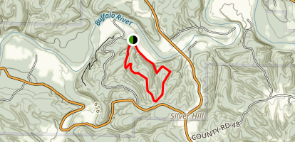 Rock Wall & Buck Ridge Loop trail Map