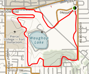 Waughop Lake MTB Course Map