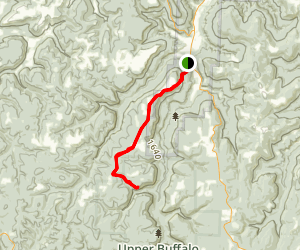 Cave Mountain to Hawksbill Crag Map
