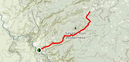 Savage Run Wilderness Map
