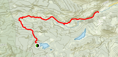 Middle Popo Agie River Trail Map