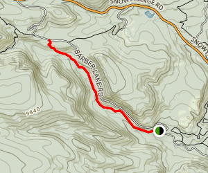 Libby Creek Trail From Barber Lake Map