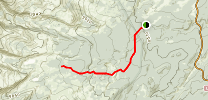 Duck Lake, Her Lake and Old Crow Lake Trail Map