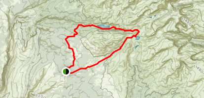 Lake Solitude and Misty Moon Loop Map