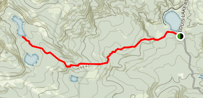 Silas Lakes Trail Map