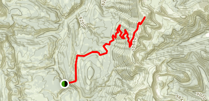Wyoming Peak Trail Map