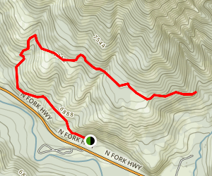 Pahaska Sunlight Trail Map