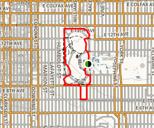 Cheesman Park and Seventh Avenue Map