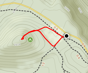 Sugarloaf Knob Climb Map