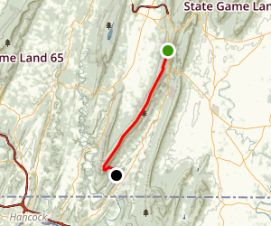 Tuscarora Mountain Trail Map