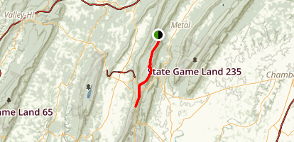Tuscarora Trail: Cowans Gap Lake To Buchanan Trail Map