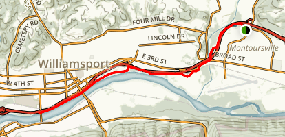 Mountoursville to Williamsport Trail Map