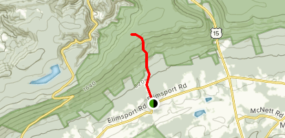 Shaffers Trail [PRIVATE PROPERTY] Map