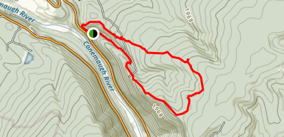 Clark Run Rogers Mountain Trail Loop Map