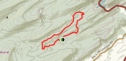 Lingle Valley and New Otter Gap Trail Map