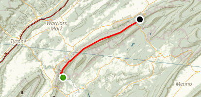 Mid-State Trail: Barree to Pinegrove Map