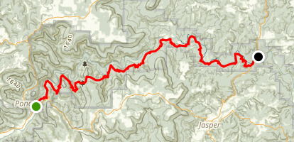 Ponca to Kyle's Landing Via Buffalo River Trail Map