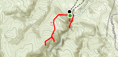 Jump Creek Falls Trail Map