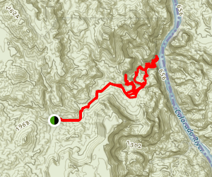 Boy Scout Hot Spring Trail Map