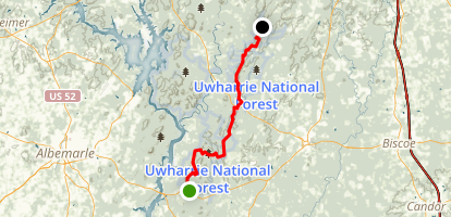 Uwharrie National Recreation Trail Map