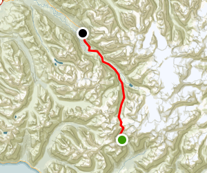Historic Iditarod (Crow Pass) Trail to Dew Mound Map