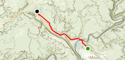 Moab Canyon Pathway Map