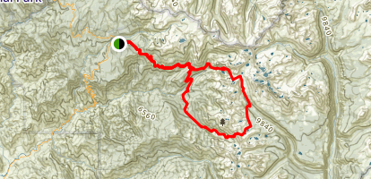 Nine Lakes Basin Loop Trail Map