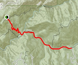 Euchre Bar Trail Map
