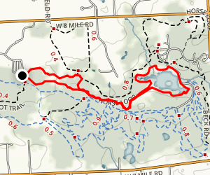 Maybury Hiking Trail Loop Map