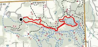 Maybury State Park Trail Loop Map