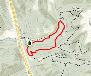 Busiek Red Trail Little Loop  Map