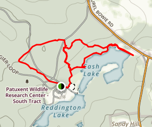 Patuxent Wildlife Refuge Loop Trail Map