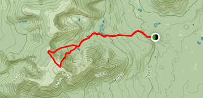 Chimney Pond, Saddle Trail, and Cathedral Trail Loop Map