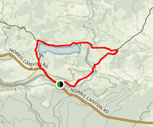 Ice Lake and Little Gibbon Falls Loop Map