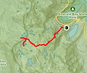 Bayview Trail to Velma Lakes Map
