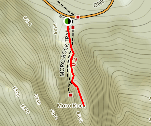 Moro Rock Trail Map