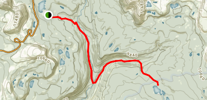 East Fork Duchesne River Trail to Pinto Lake Map