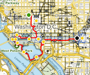 Walking Tour of Monuments and Memorials Map