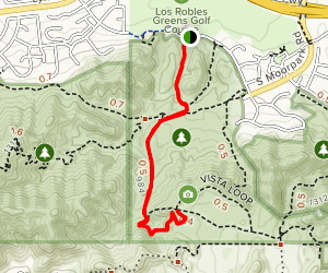 Los Robles Trail Via Oak Creek Canyon Trail Map