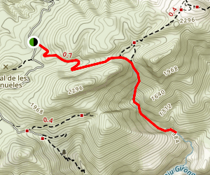 Barranc de Oms Trail Map