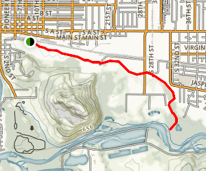 Mill Race Path Map