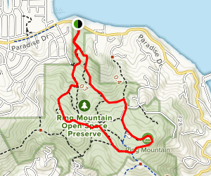 Ring Mountain via Loop and Phyllis Ellman Trail Map