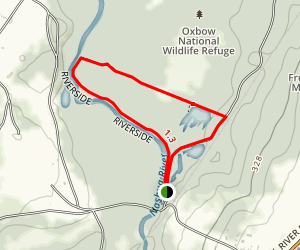Nashua River and Oxbow Trail Loop Map