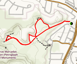 Piedras Marcadas Canyon Map