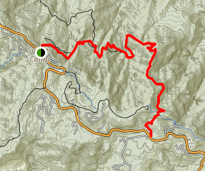Butterfly Trail via Crystal Spring Trail Map